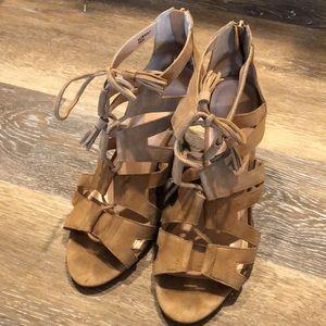 Tahari Lace Up Sandals